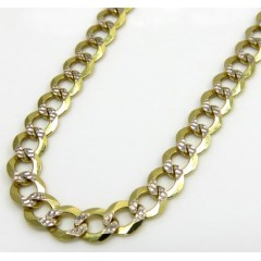 10k Yellow Gold Diamond Cut Cuban Link Chain 20-26 Inch 3.75mm