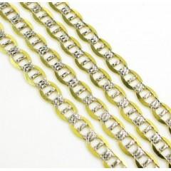 10k Yellow Gold Diamond Cut Mariner Link Chain 18-26 Inch 4mm