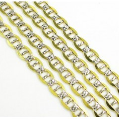 10k Yellow Gold Diamond Cut Mariner Link Chain 18-26 Inch 4mm