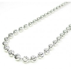 925 White Sterling Silver Diamond Cut Bead Chain 30 Inch 5mm