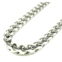 10k White Gold Franco Link Chain 30-40 Inch 5.3mm
