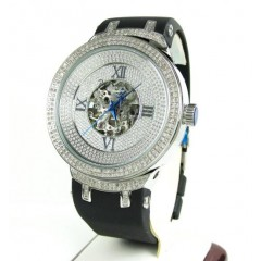 Joe Rodeo Master White Automatic Diamond Watch Jjm71 2.20ct