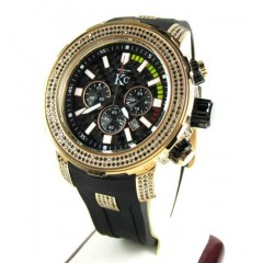 Techno Com Kc Black Diamond Watch 4.35ct