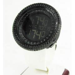 Mens Black Cz Jojino Digital Watch 10.00ct