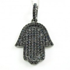 Sterling Silver Black Cz ...