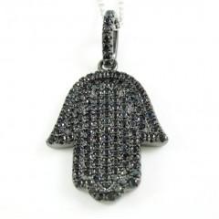 Sterling Silver Black Cz ...