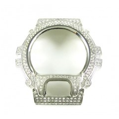 White Stainless Steel Cz G-shock Case Dw-6900 3.00ct