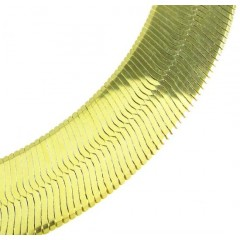 10k Yellow Gold Wide Herringbone Chain 24 Inch 15mm