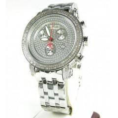 Mens Joe Rodeo White Stainless Steel Diamond Classic Watch 3.50ct Jcl50