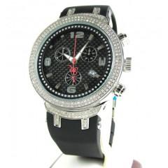 Mens Joe Rodeo White Stainless Steel Diamond Master Watch 2.20ct Jjm92