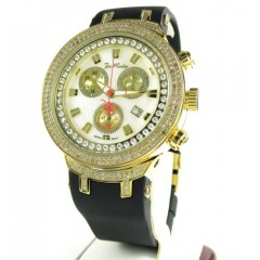 Mens Joe Rodeo Yellow Stainless Steel Diamond Master Watch 2.20ct Jjm87