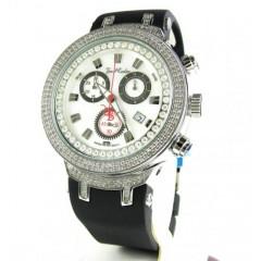Mens Joe Rodeo White Stainless Steel Diamond Master Watch 2.20ct Jjm86