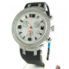 Mens Joe Rodeo White Stainless Steel Diamond Master Watch 2.20ct Jjm88