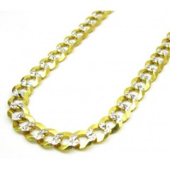 10k Yellow Gold Diamond Cut Cuban Chain 26-40 Inch 5.7mm