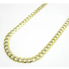 10k Yellow Gold Diamond Cut Cuban Skinny Chain 16-36 Inch 2.6mm
