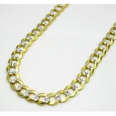 10k Yellow Gold Diamond Cut Cuban Chain 20-30 Inch 4.6mm