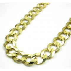 10k Yellow Gold Thick Solid Cuban Chain 20-30 Inch 8mm