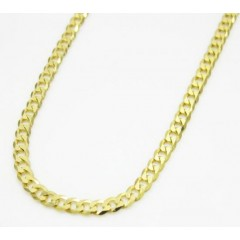10k Yellow Gold Skinny Cuban Chain 24-26 Inch 2.2mm