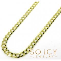 10k Yellow Gold Skinny Cuban Chain 26-30 Inch 3.2mm