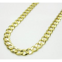 10k Yellow Gold Skinny Cuban Chain 16-30