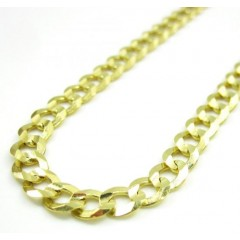 10k Yellow Gold Cuban Chain 22-30 Inch 4.5mm