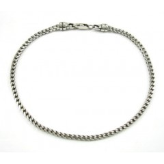 10k White Gold Franco Bracelet 8.5 Inch 2.3mm