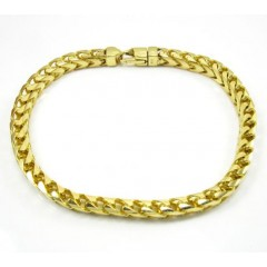 10k Yellow Gold Franco Bracelet 9 Inch 5.30mm