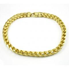 10k Yellow Gold Franco Bracelet 9 Inch 5.30mm