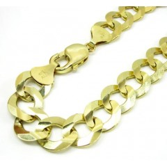 10k Yellow Gold Cuban Bracelet 9.25 Inch 12.5mm