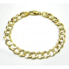 10k Yellow Gold Cuban Bracelet 9 Inch 9.50mm