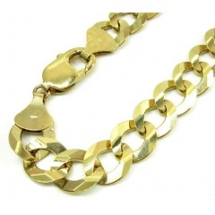 10k Yellow Gold Cuban Bracelet 9 Inch 11.50mm