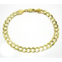 10k Yellow Gold Cuban Bracelet 8.75 Inch 7mm