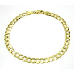 10k Yellow Gold Solid Cuban Bracelet 8.50 Inch 5.75mm