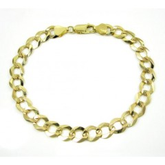 10k Yellow Gold Cuban Bracelet 8.25 Inch 7mm