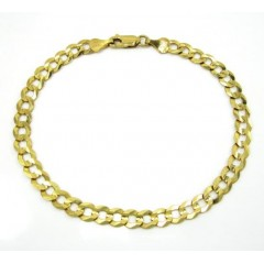 10k Yellow Gold Cuban Bracelet 8.75 Inch 5.85mm