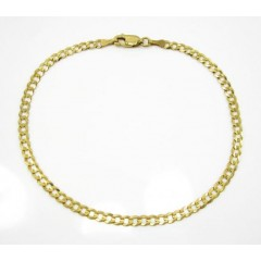 10k Yellow Gold Cuban Bracelet 8 Inch 3.2mm