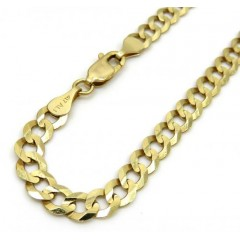 10k Yellow Gold Cuban Bracelet 8.5 Inch 4.75mm