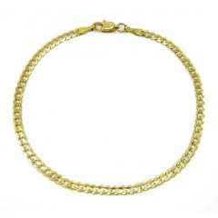 10k Yellow Gold Cuban Bracelet 8.25 Inch 3.25mm