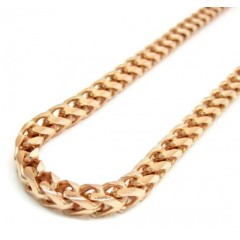 10k Rose Gold Franco Chain 30 Inch 4.65mm