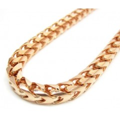 10k Rose Gold Franco Chain 40 Inch 5.5mm