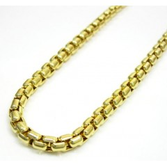 14k Yellow Gold Italian Box Chain 22-30 Inch 3.5mm