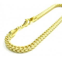 10k Yellow Gold Franco Link Bracelet 8.50 Inch 3.7mm