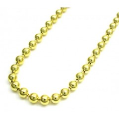 10k Yellow Gold Combat Ball Link Chain 20-26 Inch 3mm