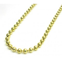 10k Yellow Gold Combat Ball Link Chain 22-36 Inch 2.2mm