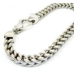 10k White Gold Franco Bracelet 8.25 Inch 6.5mm