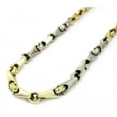 10k Two Tone Gold Fancy B...