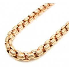14k Rose Gold Box Link Chain 18-30 Inch 5mm