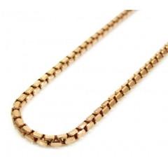 14k Rose Gold Hexagon Box Link Chain 16-30 Inch 2.3mm