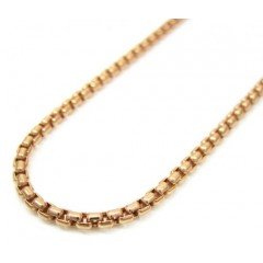 14k Rose Gold Box Link Chain 16-30 Inch 1.8mm