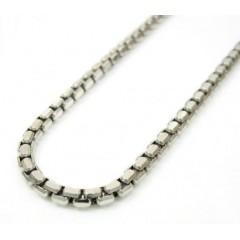 14k White Gold Hexagon Box Link Chain 16-30 Inch 2.3mm